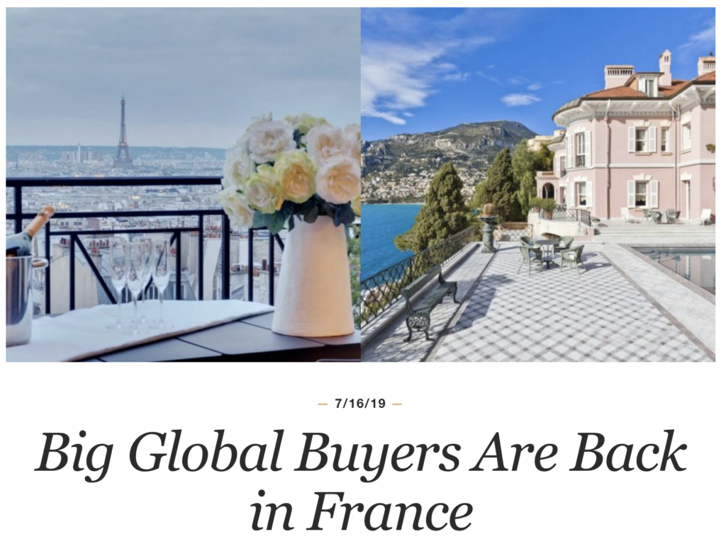 Big Global Buyers Are Back in France